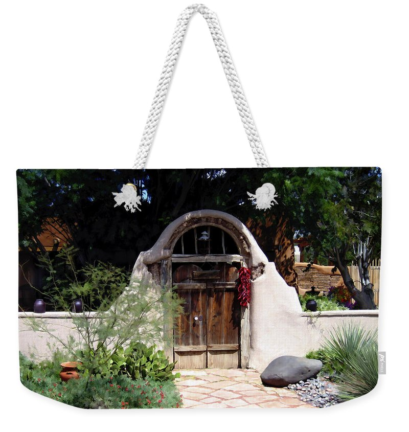 Doors Weekender Tote Bag featuring the photograph La Entrada A La Casa Vieja De Mesilla by Kurt Van Wagner
