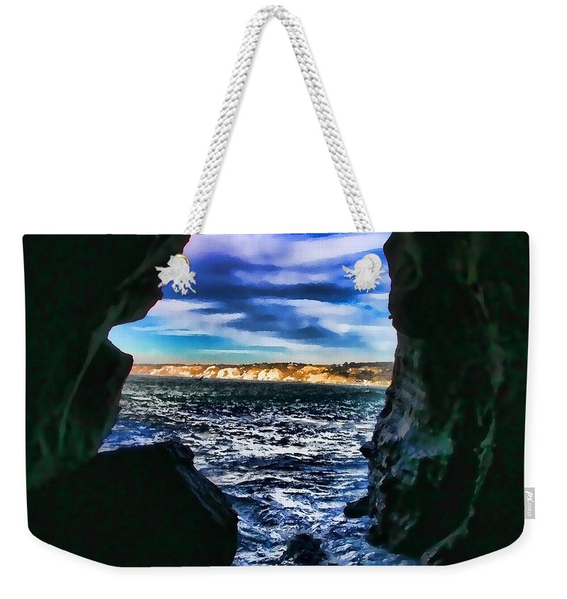 Cave Weekender Tote Bag featuring the photograph La Jolla Cave By Diana Sainz by Diana Raquel Sainz