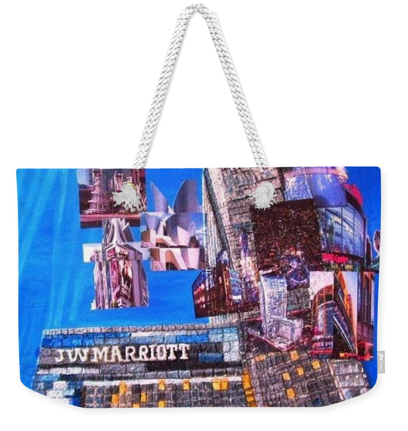 La Live Weekender Tote Bag featuring the painting La Live by Leslye Miller