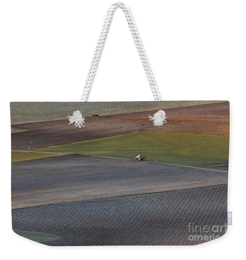 Landscape Weekender Tote Bag featuring the photograph La Mancha Landscape - Spain Series-siete by Heiko Koehrer-Wagner