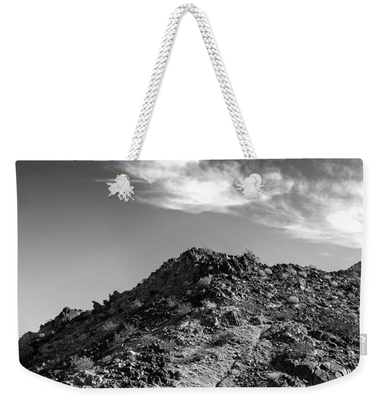 La Quinta Weekender Tote Bag featuring the photograph La Quinta Early Morning by Dominic Piperata