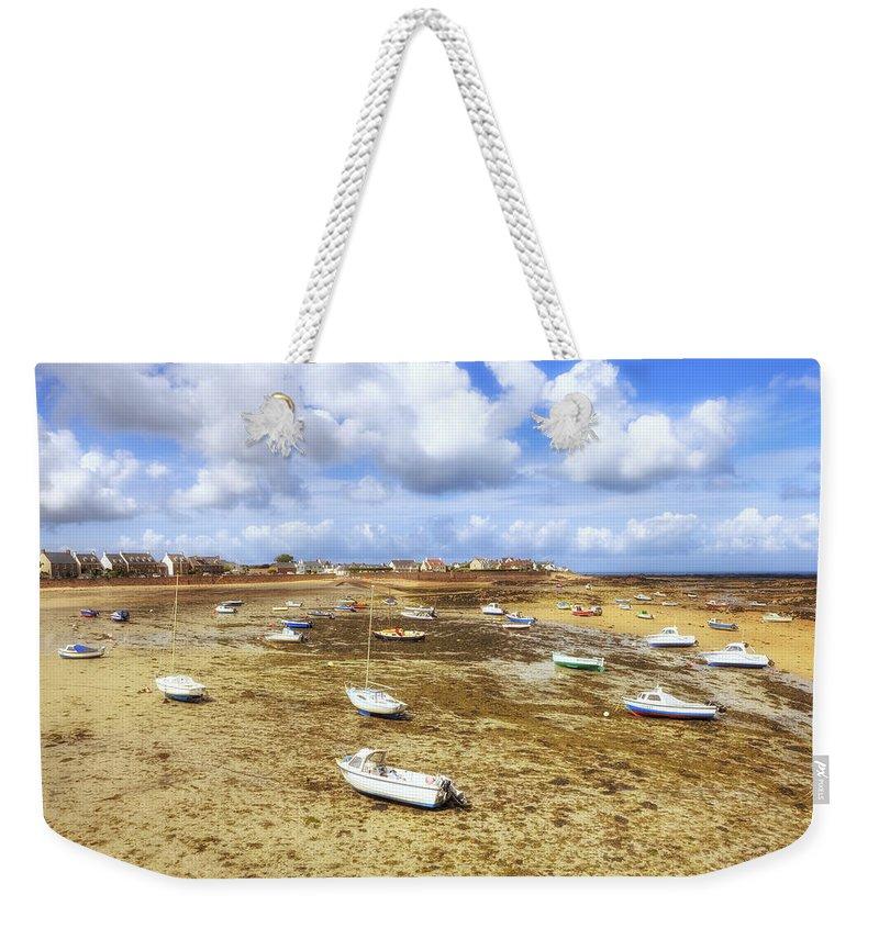 La Rocque Weekender Tote Bag featuring the photograph La Rocque - Jersey by Joana Kruse