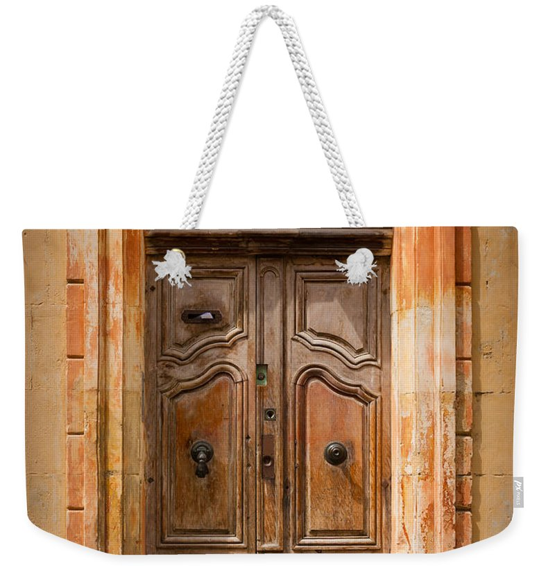 Arles Weekender Tote Bag featuring the photograph La Vieille Porte by Inge Johnsson