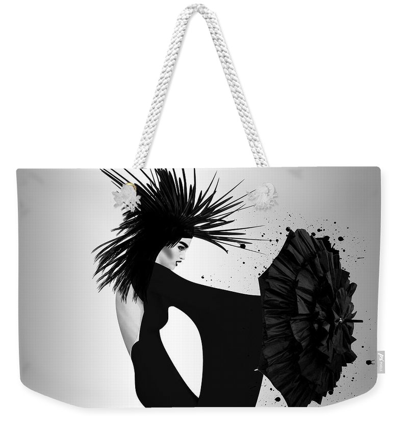 Woman Weekender Tote Bag featuring the photograph Lady D 2 by Mark Ashkenazi