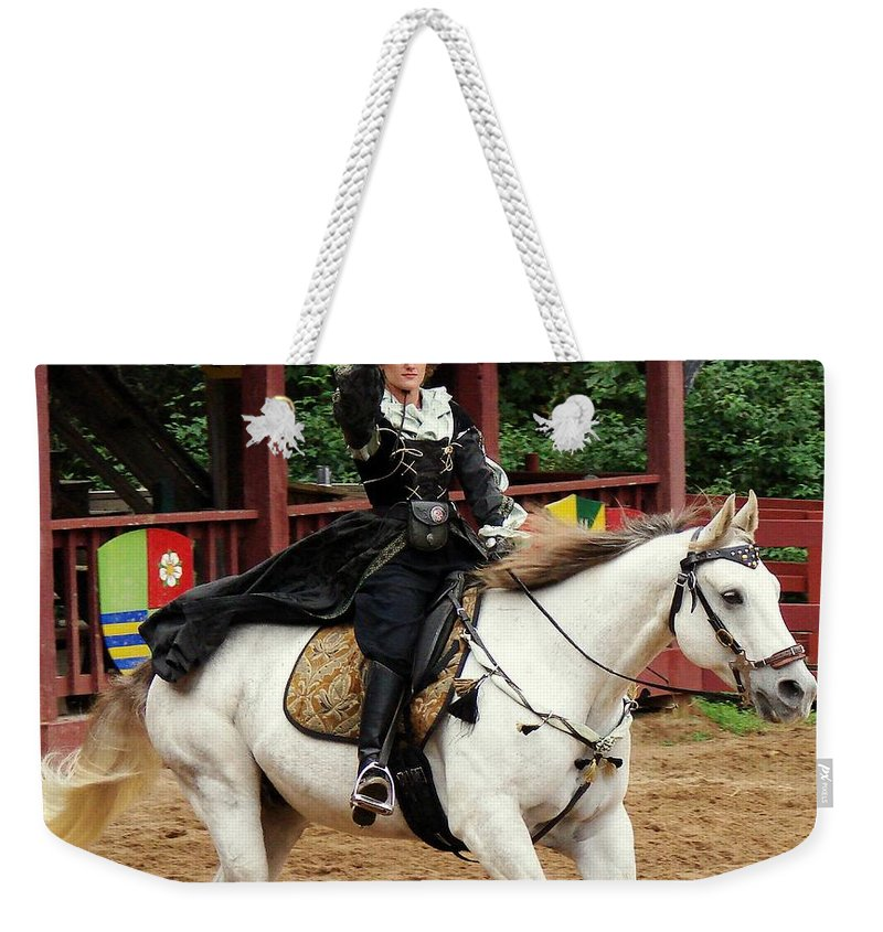 Renaissance Weekender Tote Bag featuring the photograph Lady Of Arms by Rodney Lee Williams