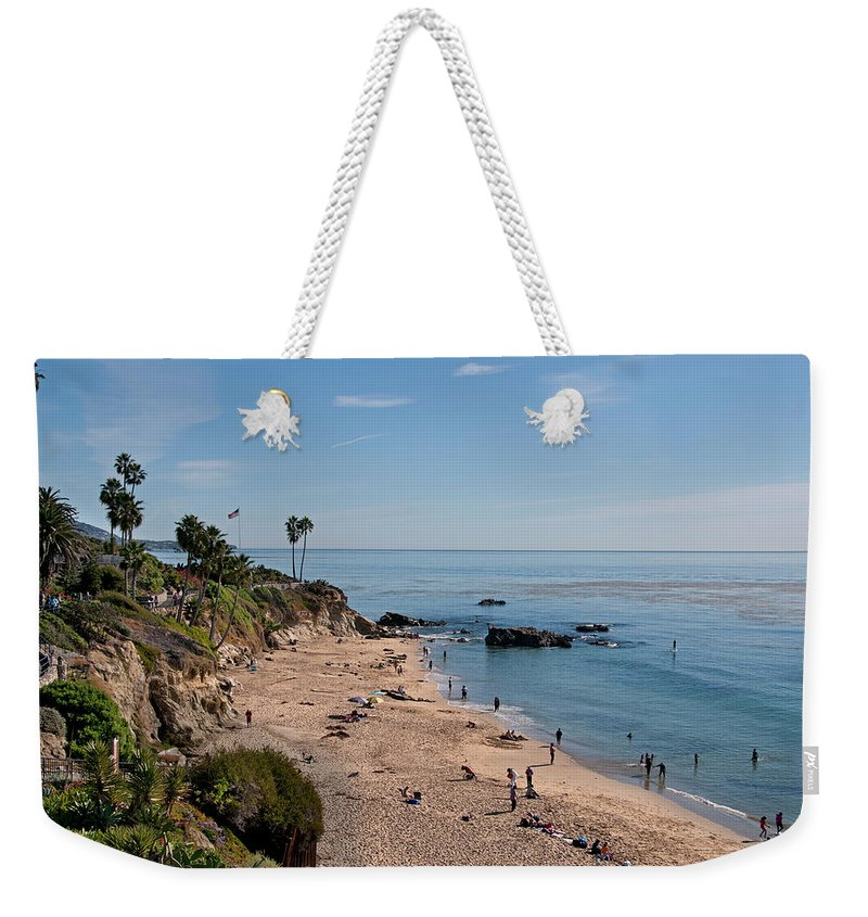 Tranquility Weekender Tote Bag featuring the photograph Laguna Beach Cove by Mitch Diamond