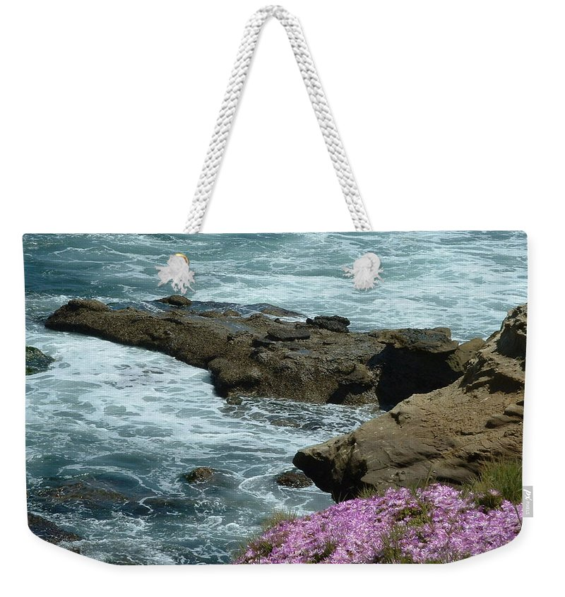 Beach Weekender Tote Bag featuring the photograph Lajolla Shore by Joan Gal-Peck