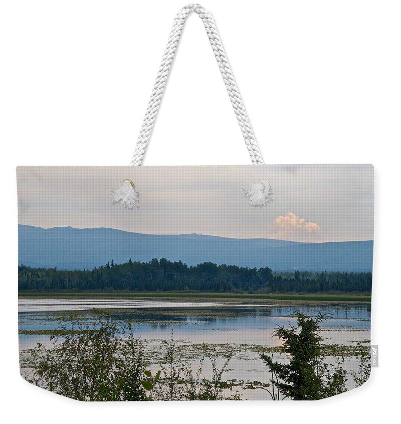 Lake Along Klondike Highway Weekender Tote Bag featuring the photograph Lake Along Klondike Highway-yt by Ruth Hager