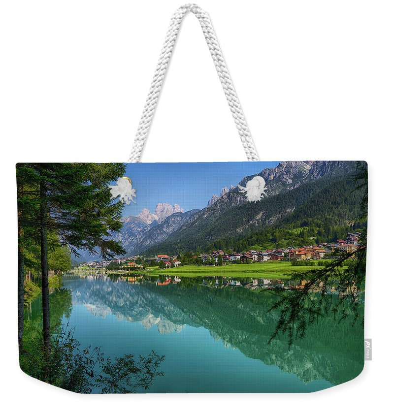 Veneto Weekender Tote Bag featuring the photograph Lake. Color Image by Claudio.arnese