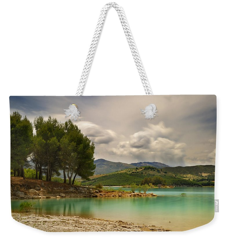 Weekender Tote Bag featuring the photograph Lake by Guido Montanes Castillo