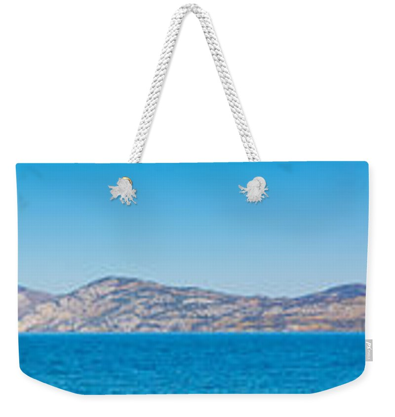 Autumn Weekender Tote Bag featuring the photograph Lake Laberge Yukon Territory Canada by Stephan Pietzko