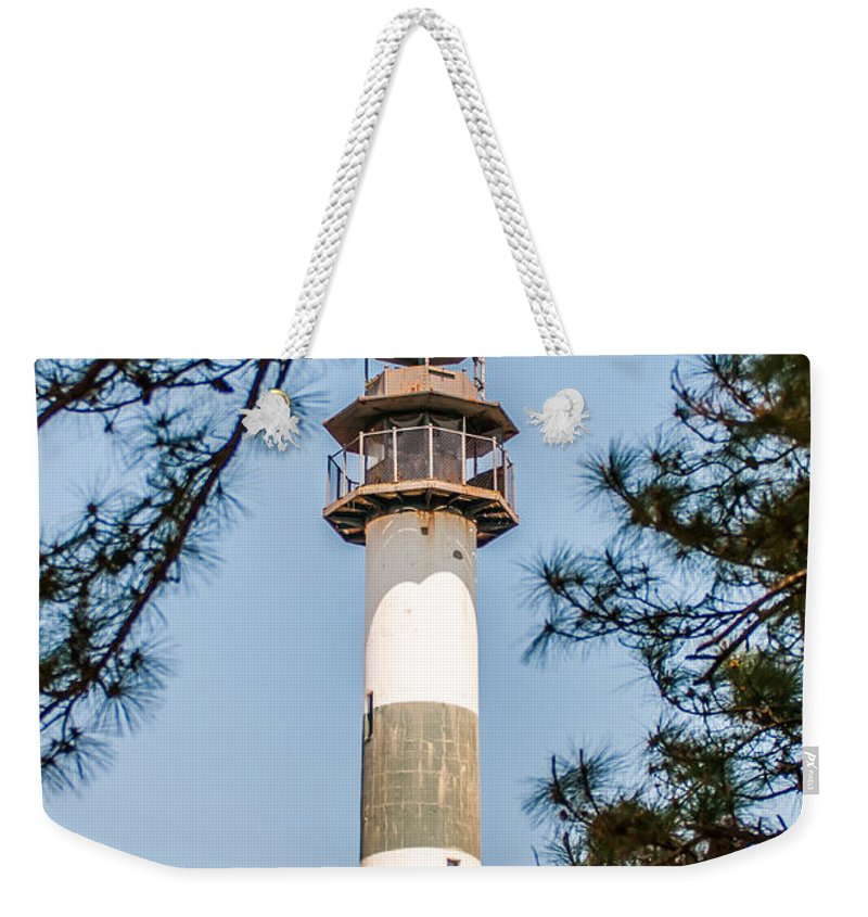 Lake Weekender Tote Bag featuring the photograph Lake Mattamuskeet Lighthouse North Carolina by Alex Grichenko