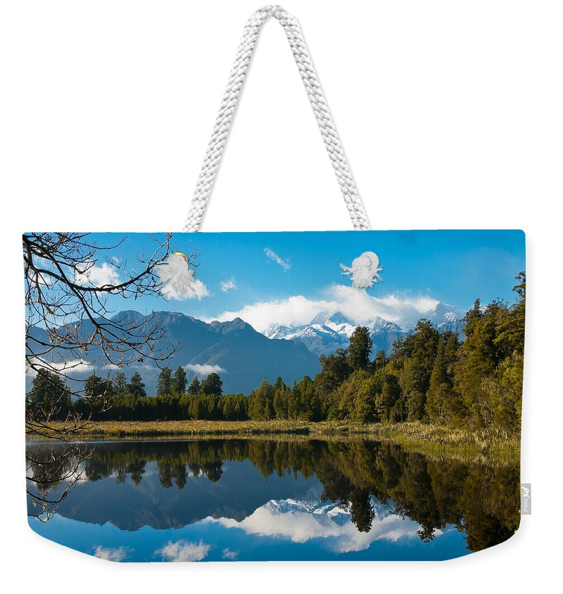 Lake Weekender Tote Bag featuring the photograph Lake Reflections by Jenny Setchell