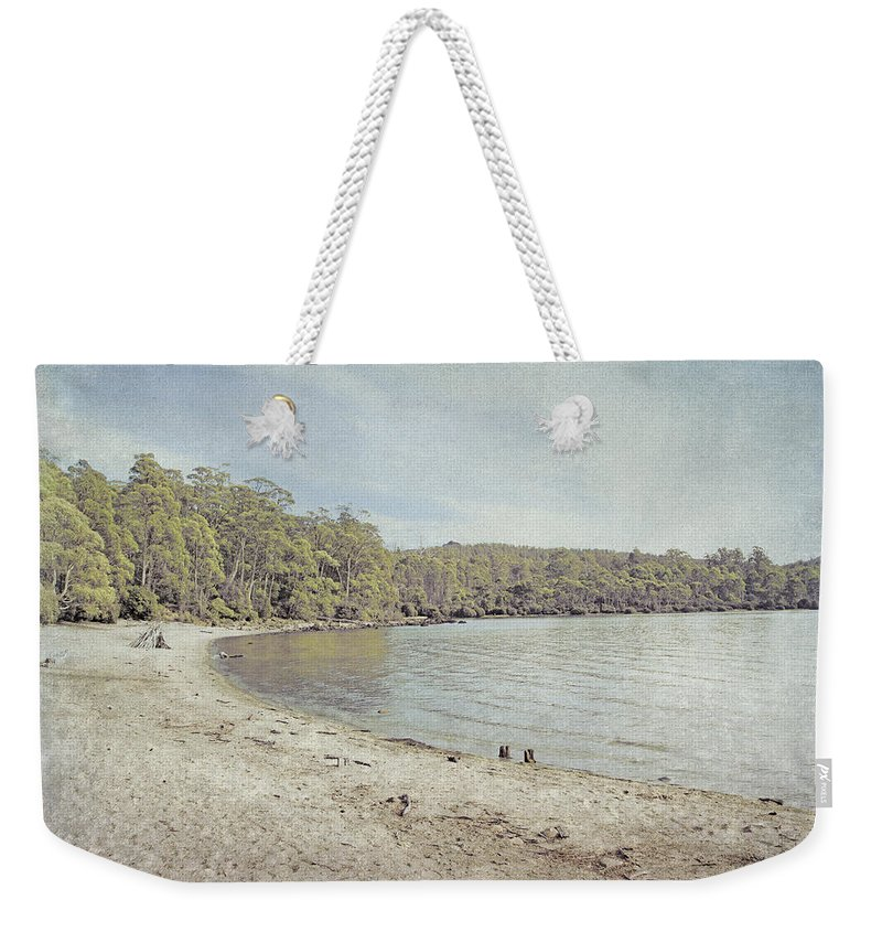 Tasmania Weekender Tote Bag featuring the photograph Lake St. Clair In Tasmania by Elaine Teague