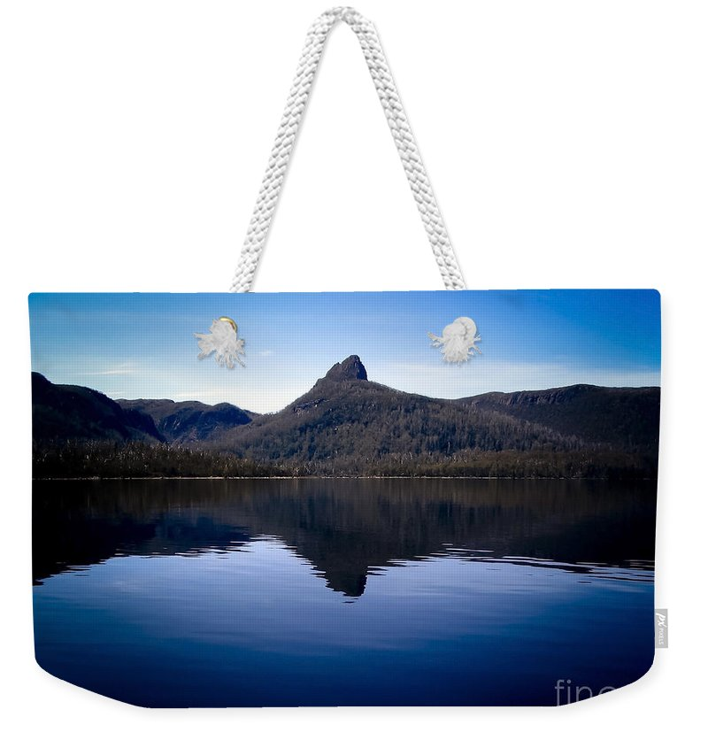 Across Weekender Tote Bag featuring the photograph Lake St Clair by Tim Hester
