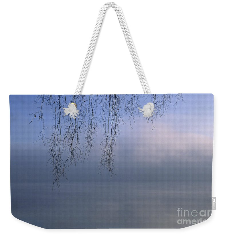 Tree Weekender Tote Bag featuring the photograph Lake Stillness by Jim Corwin