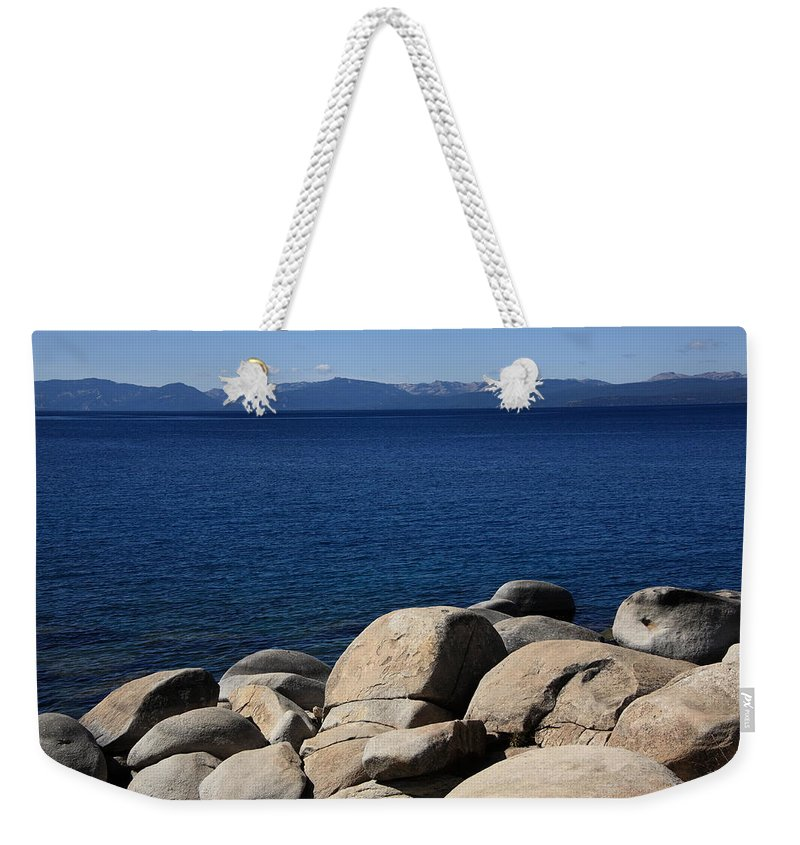 Art Weekender Tote Bag featuring the photograph Lake Tahoe by Frank Romeo
