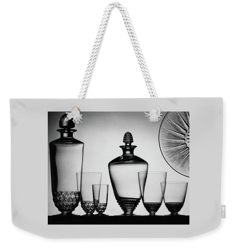 Home Accessories Weekender Tote Bag featuring the photograph Lalique Glassware by The 3