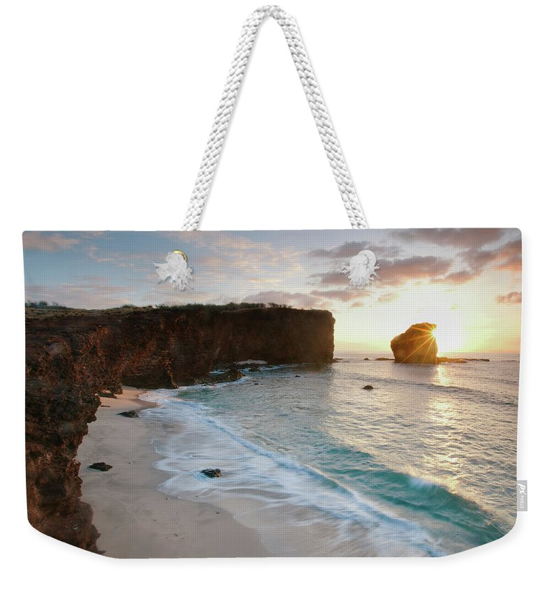Scenics Weekender Tote Bag featuring the photograph Lanai Sunset Resort Beach by M Swiet Productions