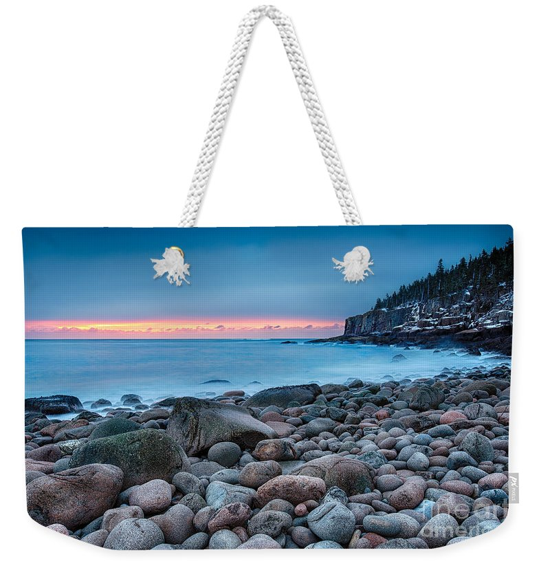 Acadia Weekender Tote Bag featuring the photograph Land Of Sunrise by Evelina Kremsdorf