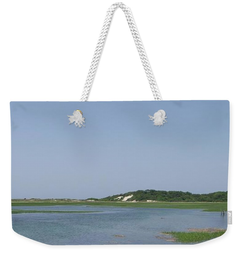 Provincetown Weekender Tote Bag featuring the photograph Land's End Dunes by Michelle Welles