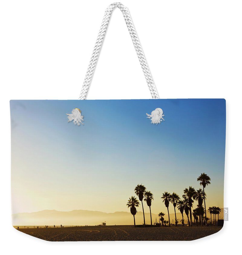 Santa Monica Mountains Weekender Tote Bag featuring the photograph Landscape Image Of Venice Beach by Bluehill75