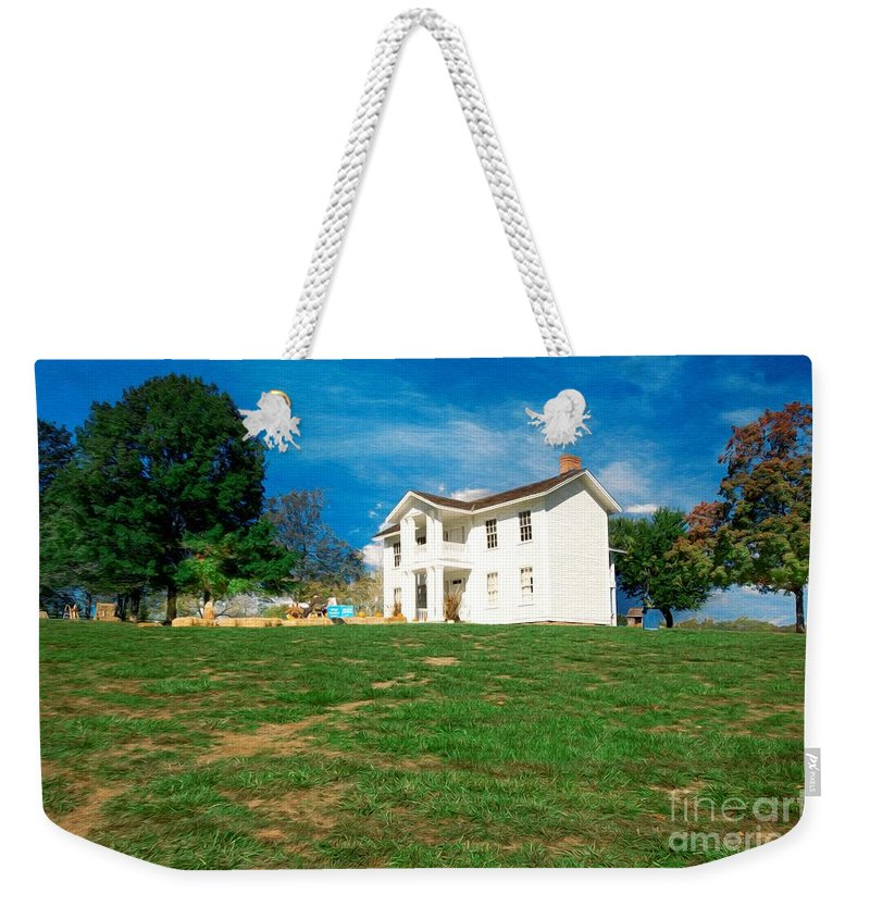 Missouri Town 1855 Weekender Tote Bag featuring the photograph Landscape - Missouri Town - Missouri by L Wright