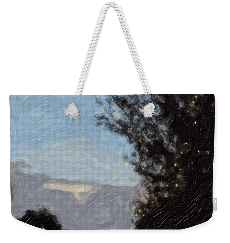 Landscape Weekender Tote Bag featuring the painting Landscape Of Fall by Sergey Bezhinets