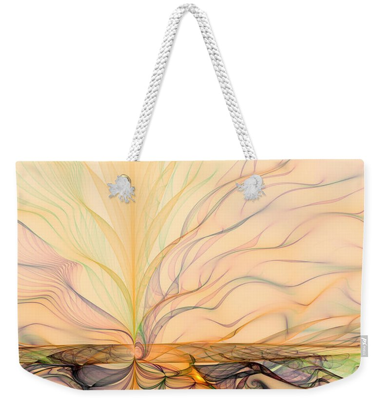 Abstract Weekender Tote Bag featuring the digital art Landscape Of Fantasy by Gabiw Art