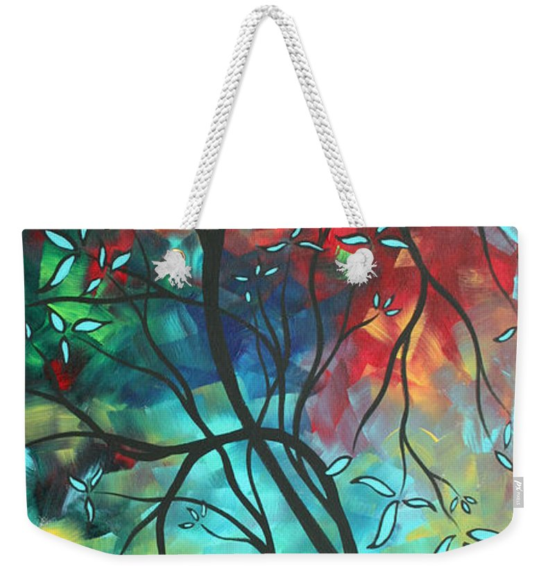 Art Weekender Tote Bag featuring the painting Languishing In The Breeze Original Art Madart by Megan Duncanson