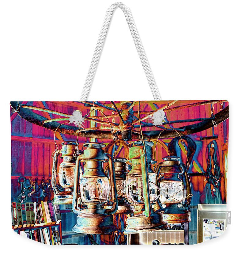 Chandelier Weekender Tote Bag featuring the photograph Lantern Chandelier 02 by Sylvia Thornton