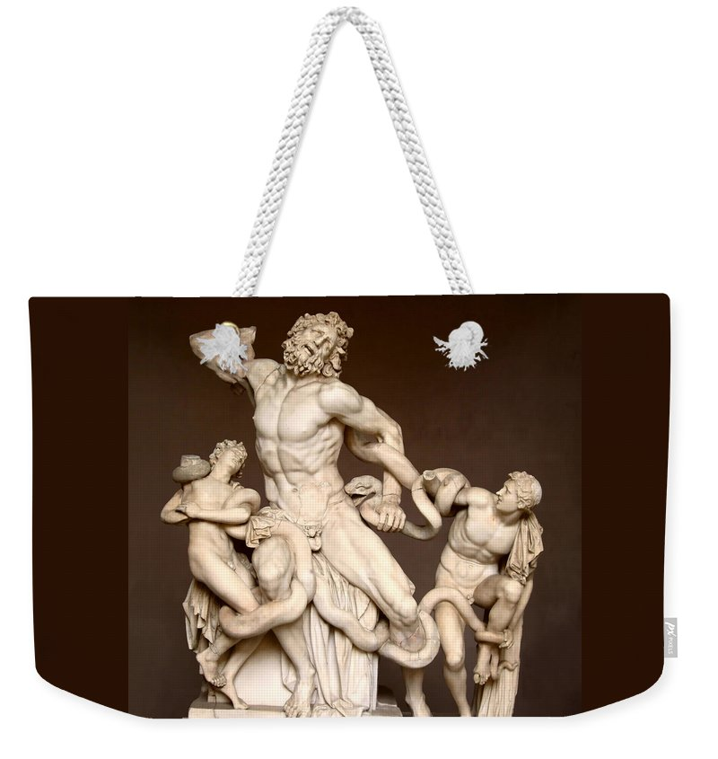 Laocoon And Sons Weekender Tote Bag featuring the photograph Laocoon And Sons by Ellen Henneke