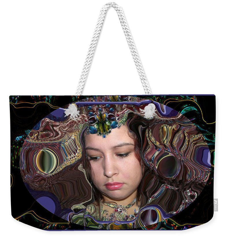 Portrait Weekender Tote Bag featuring the digital art Lapislazuli Beauty by Otto Rapp