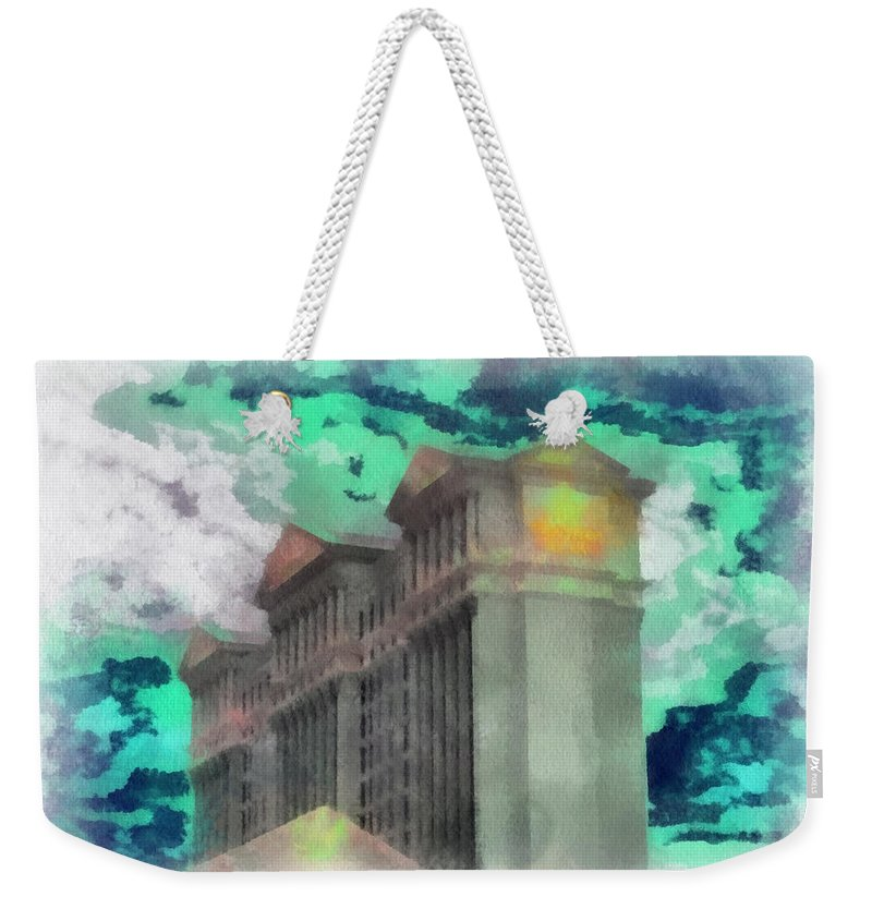 Caesars Palace Las Vegas Weekender Tote Bag featuring the photograph Las Vegas Caesars Photo Art by Thomas Woolworth