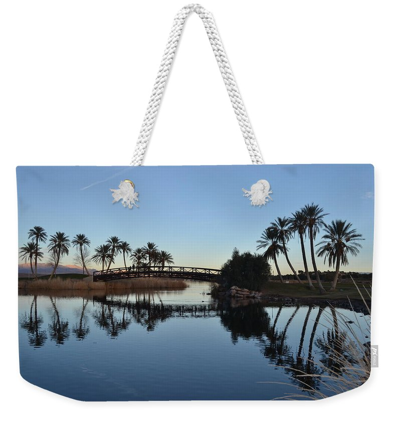 Las Vegas Reflections Weekender Tote Bag featuring the photograph Las Vegas Reflections by Christine Owens