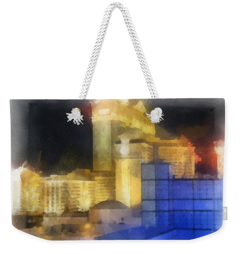 Caesars Palace Las Vegas Weekender Tote Bag featuring the photograph Las Vegas The Palace Photo Art by Thomas Woolworth