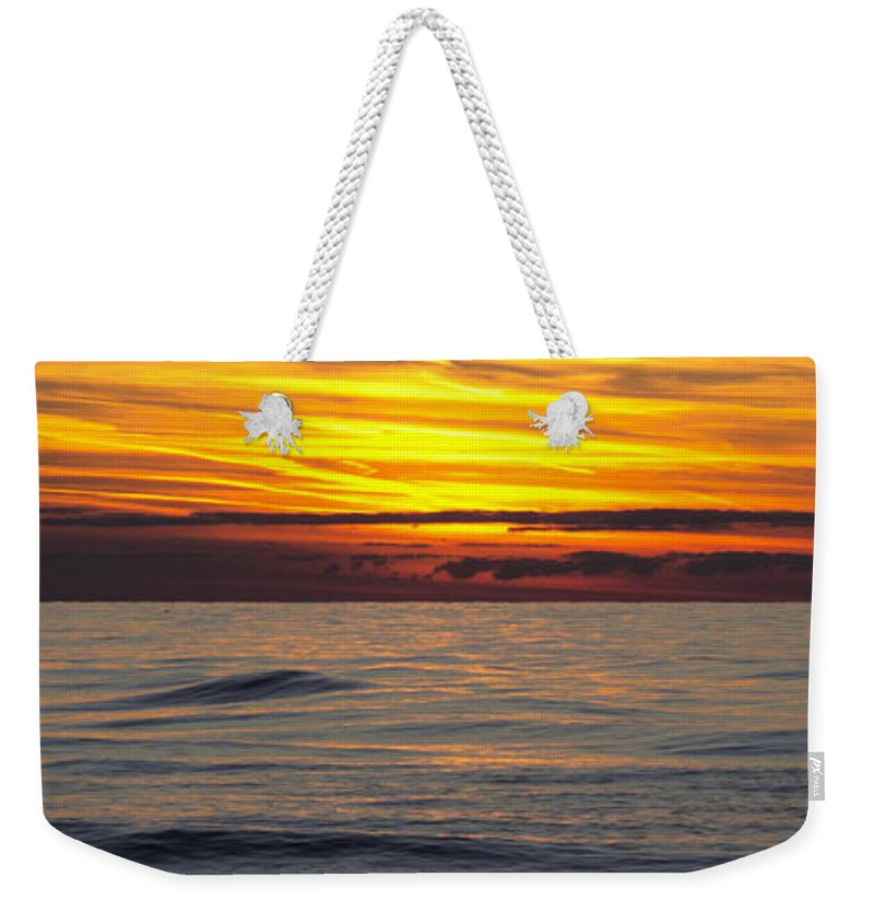 Sunset Weekender Tote Bag featuring the photograph Last Light Panorama by Ann Horn