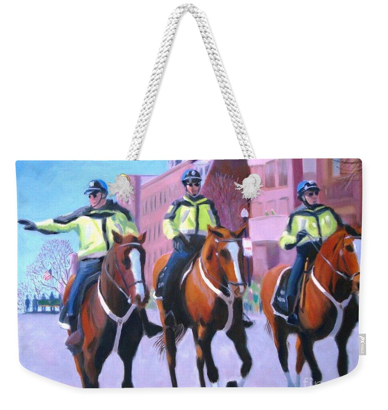 Boston Weekender Tote Bag featuring the painting Last Parade by Frank Quinn