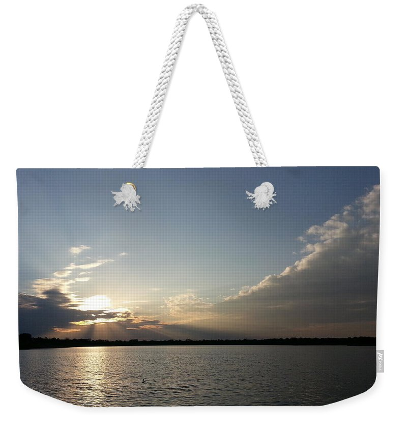 Lake Weekender Tote Bag featuring the photograph Last Rays Of The Sun by Caryl J Bohn