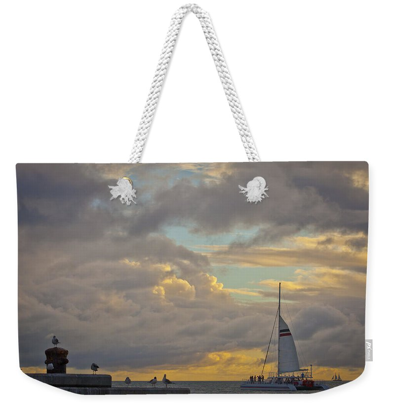 Key Weekender Tote Bag featuring the photograph Last Remaining Light by Scott Meyer