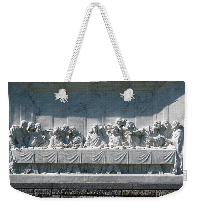 Art For The Wall...patzer Photography Weekender Tote Bag featuring the photograph Last Supper by Greg Patzer