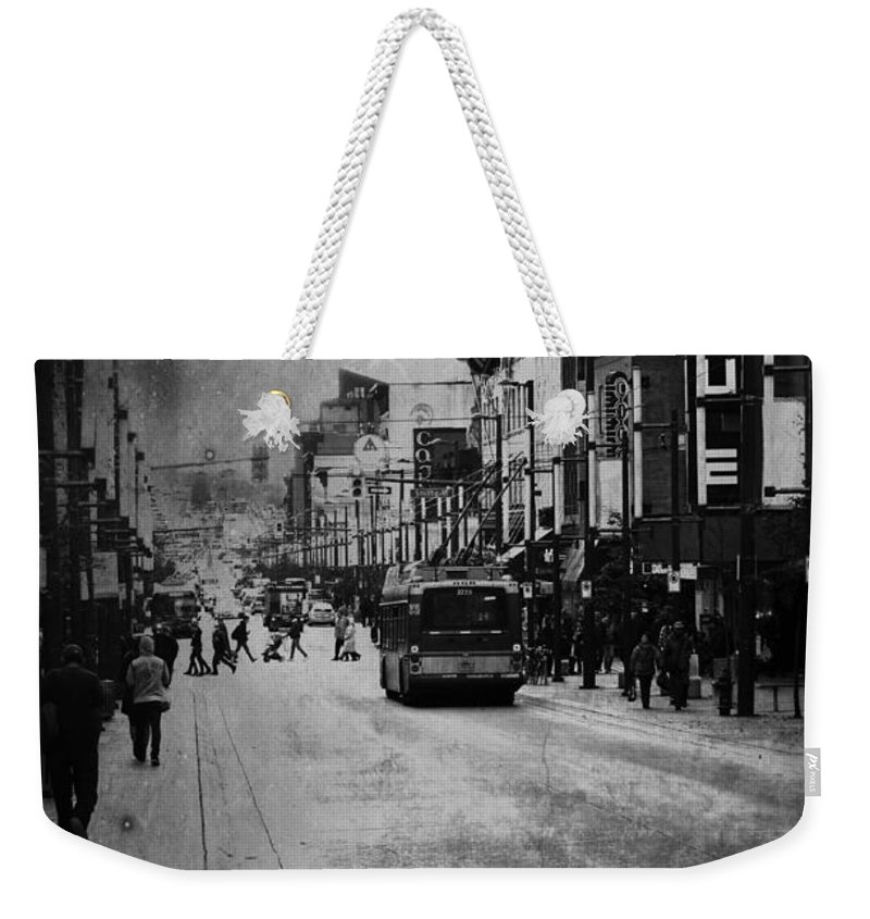 Street Photography Weekender Tote Bag featuring the photograph Last Venue by The Artist Project