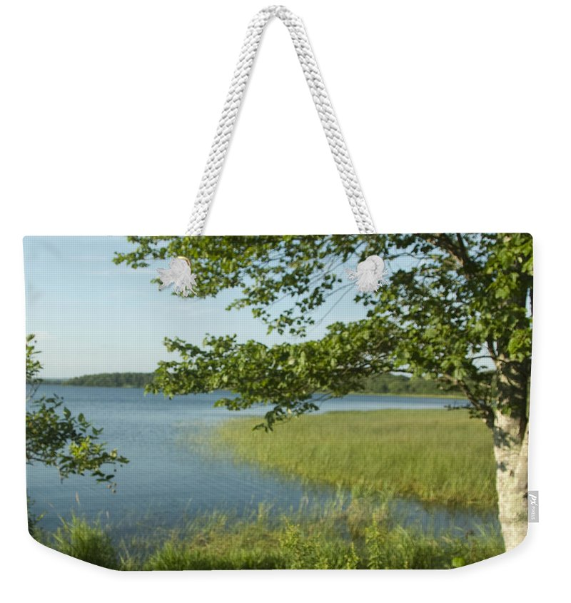 Photography Weekender Tote Bag featuring the photograph Late Afternoon On Worden Pond by Steven Natanson