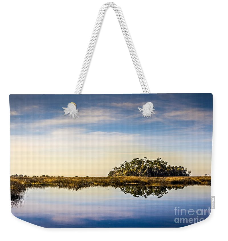 Bayport Weekender Tote Bag featuring the photograph Late Day Hammock by Marvin Spates