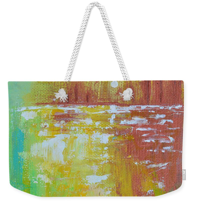 Landscape Weekender Tote Bag featuring the painting Late In The Day by Donna Blackhall