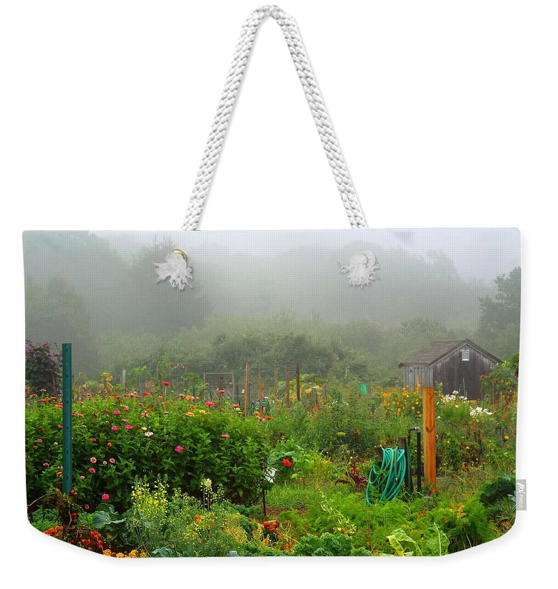 Garden Weekender Tote Bag featuring the photograph Late Summer by Dianne Cowen