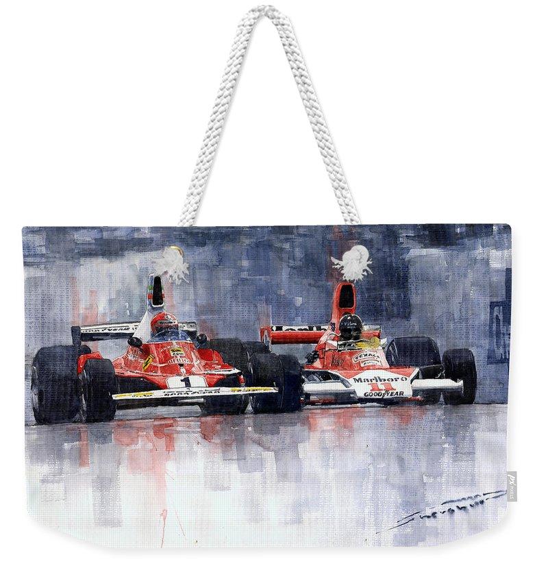 Sports Car Weekender Tote Bags
