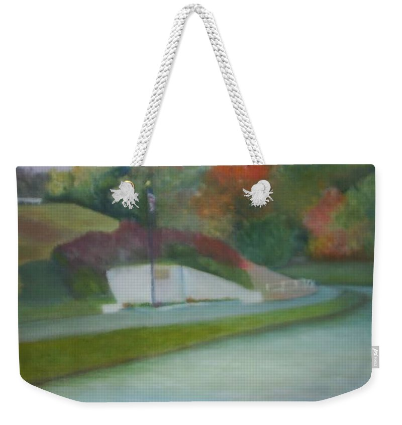 Park Weekender Tote Bag featuring the painting Laurel Acres by Sheila Mashaw