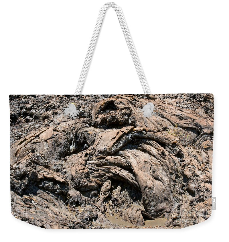 Bartolome Island Galapagos Islands Ecuador Lava Rock Rocks Abstract Odds And Ends Texture Textures Weekender Tote Bag featuring the photograph Lava Abstract by Bob Phillips
