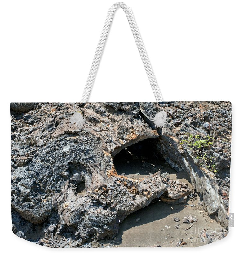 Bartolome Island Galapagos Islands Ecuador Lava Rock Rocks Abstract Odds And Ends Texture Textures Sand Weekender Tote Bag featuring the photograph Lava Creation by Bob Phillips